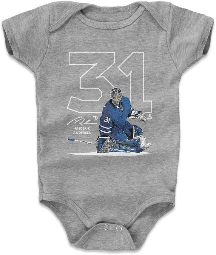 500 LEVEL Frederik Andersen Toronto Hockey Baby Clothes & Onesie (3-24 Months) - Frederik Andersen Outline