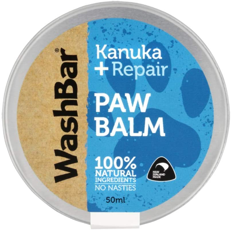 WashBar Paw Moisturizer for Dogs, Dog Paw Moisturizer with All Natural Ingredients, Dog Pad Balm to Repair Dry Cracked Paws, New Zealand Made