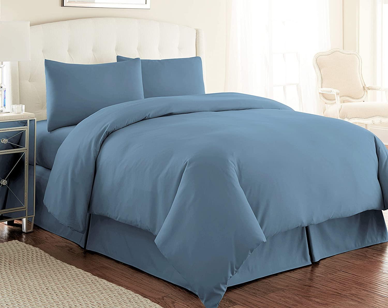 Southshore Fine Living, Inc. Vilano Springs Premium Quality Oversized 2-Piece Duvet Cover Set, Twin/Twin XL, Coronet Blue