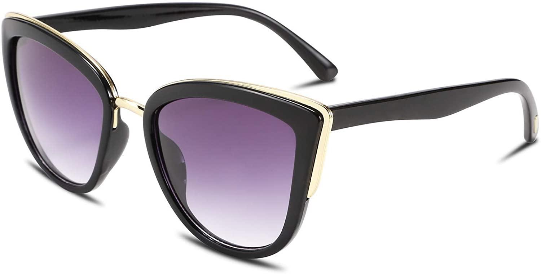 FEISEDY Cateye Sunglasses Women Vintage Cat Eye Female Ladies Sun Glasses B2498