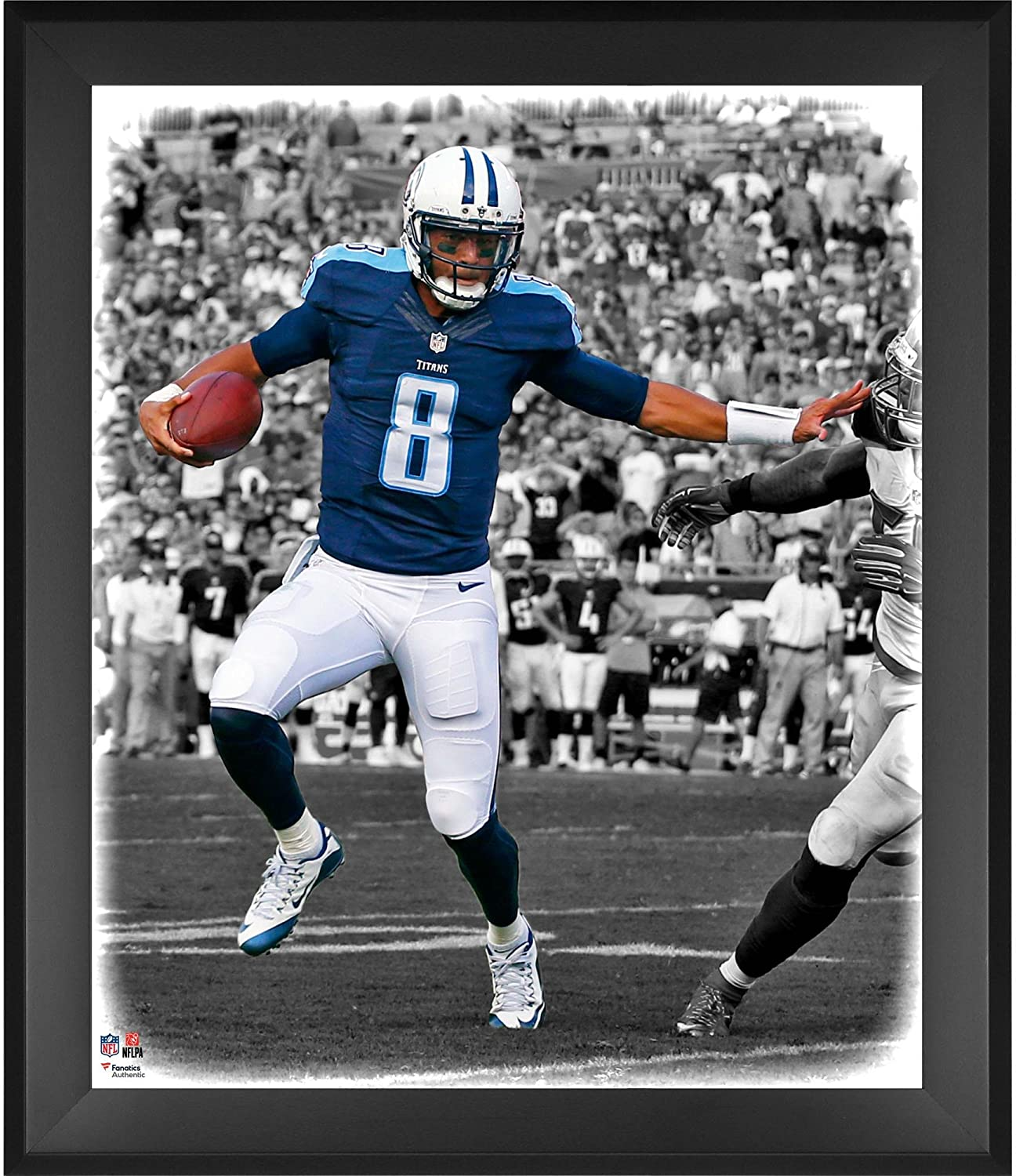 Marcus Mariota Tennessee Titans Framed 20 x 24 In the Zone Photograph - NFL Player Plaques and Collages
