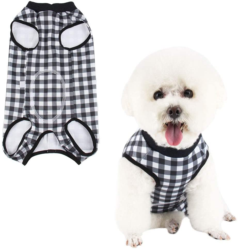 Due Felice Dog Professional Surgical Recovery Suit for Abdominal Wounds Skin Diseases, After Surgery Wear, E-Collar Alternative for Dogs, Home Indoor Pets Clothing