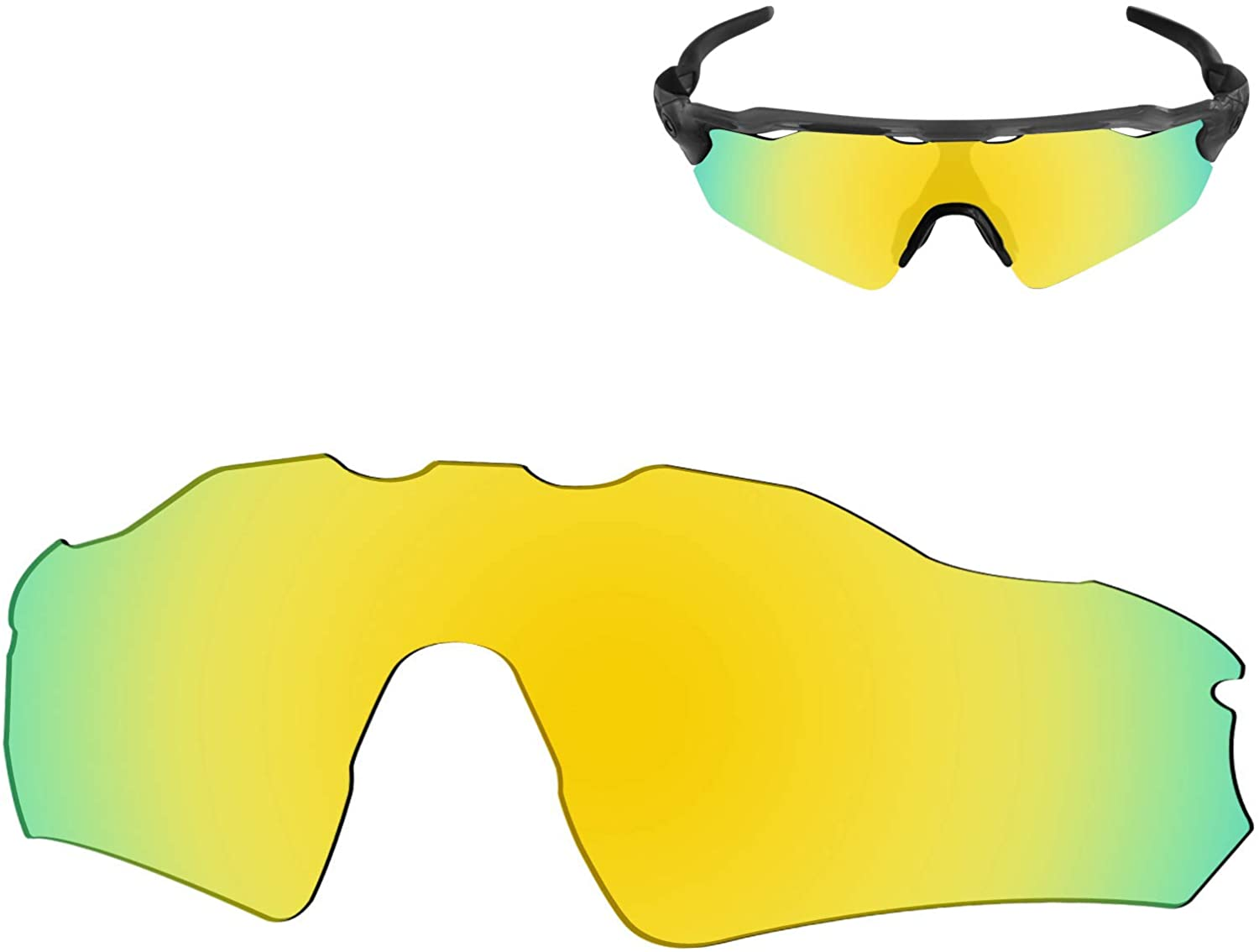 Galvanic Replacement Lenses for Oakley Radar EV Path OO9208 Sunglasses - Multiple Choices