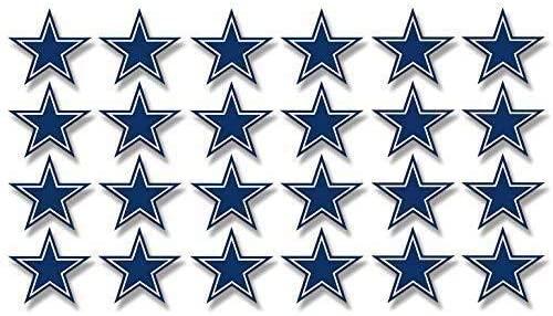 JR Studio Sheet of 24: 1 Inch Dallas Star Shaped Stickers -Fan Cowboys Scrapbooking Small Vinyl Decal Sticker Car Waterproof Car Decal Bumper Sticker
