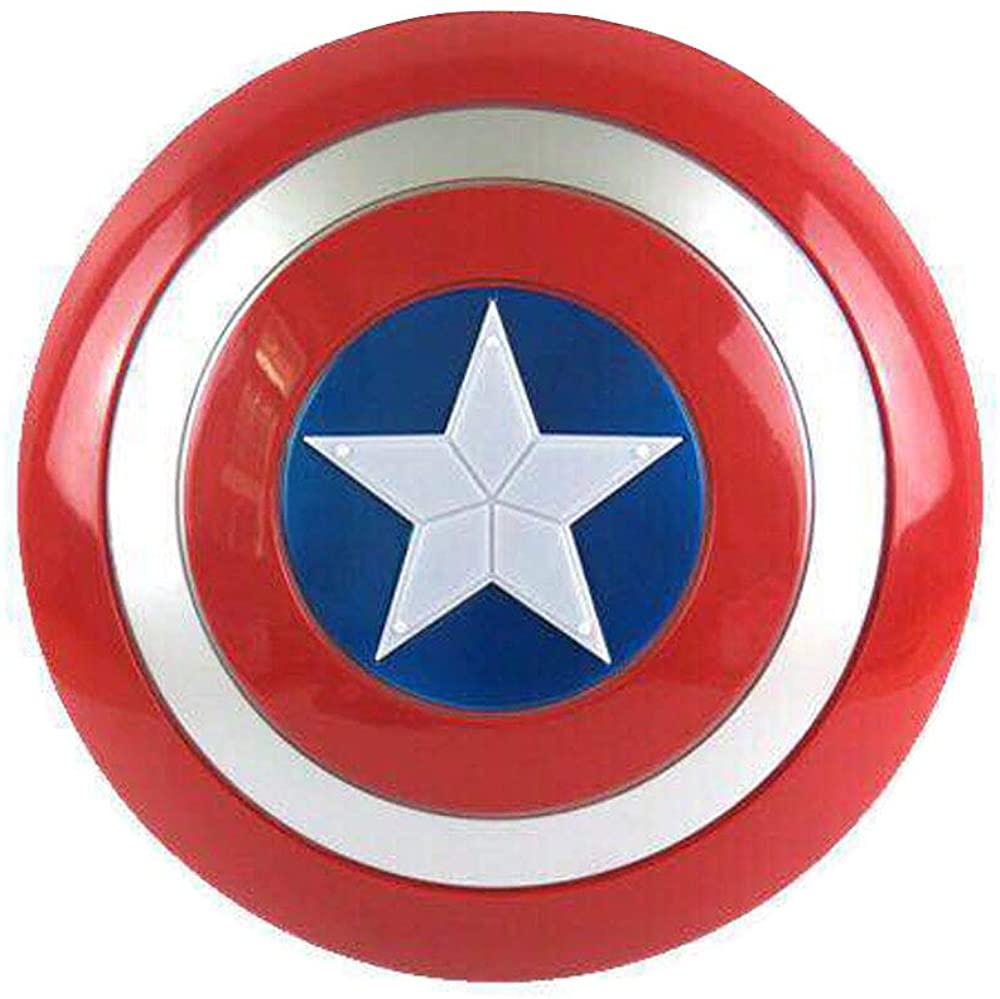 Marvel Captain America Shields Children's Superhero Cosplay Props LED Light and Sound Plastic Shields Boys Kids Toys Blue Red