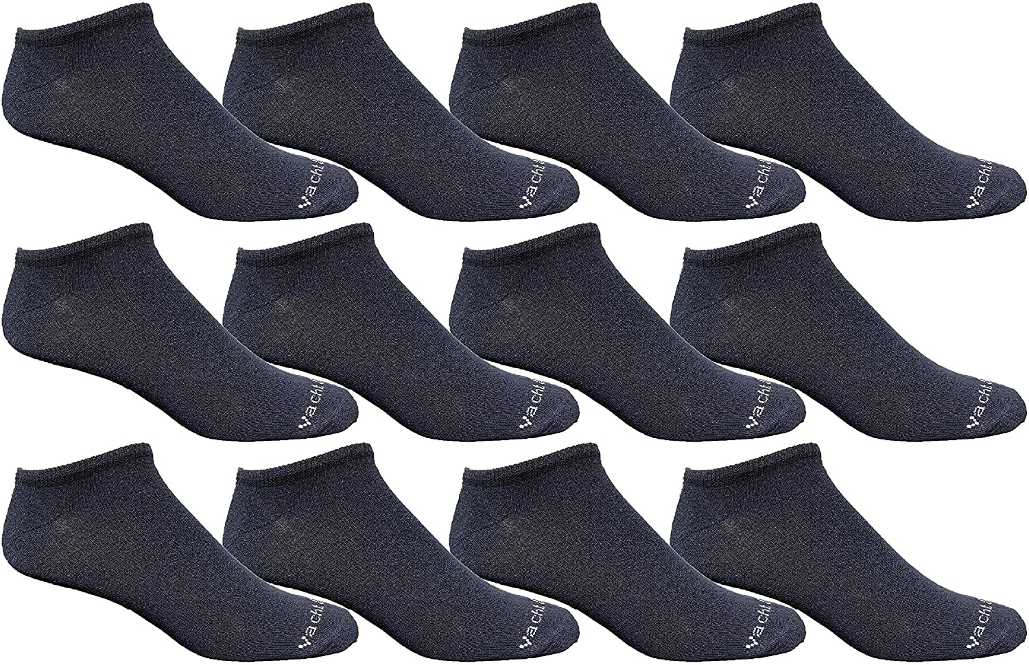 Yacht & Smith Wholesale Mens 97% Cotton Shoe Liner Training Socks Size 10-13, No Show Thin Low Cut Sport Ankle Socks