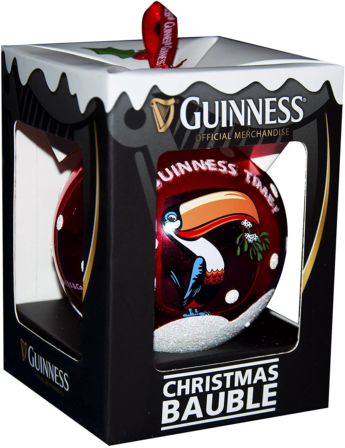 Guinness Toucan Glass Bauble