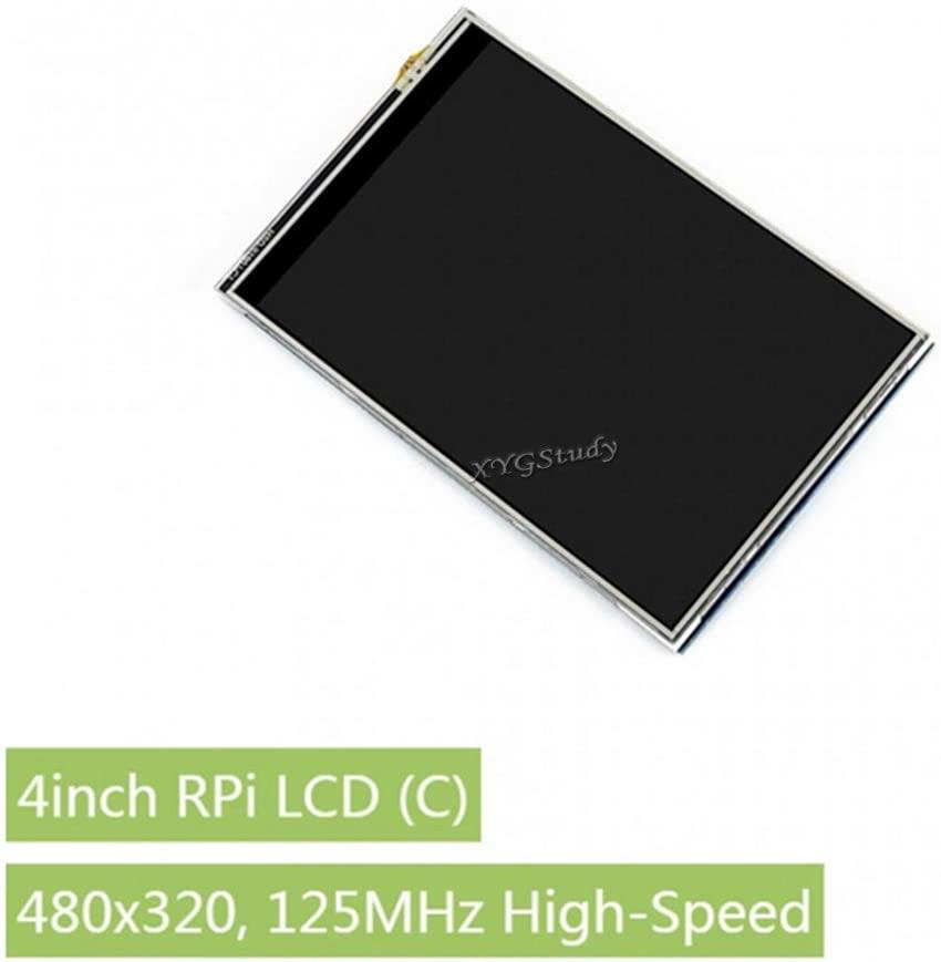 4inch RPi LCD (C), 4 inch 480x320 125MHz High-Speed SPI Resistive Touch TFT Screen Display Supports Raspberry Pi 4B/3B+/3B/2B/B+ Raspbian FBCP Play Video Game @XYGStudy
