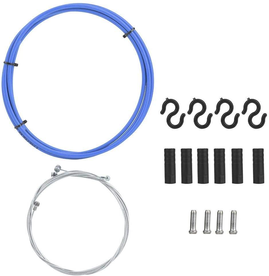 Bike Brake Cable Housing Hose Cap Kit for Mountain Road Bicycle(Blue)