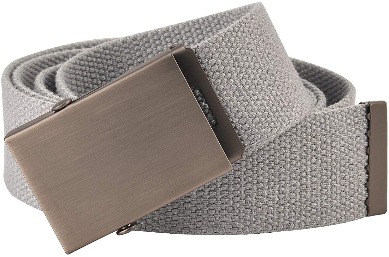 KEYNAT Military Tactical Belt for Men 49''x1.5'' Webbing Nylon Belt Quick Release Buckle Heavy Duty