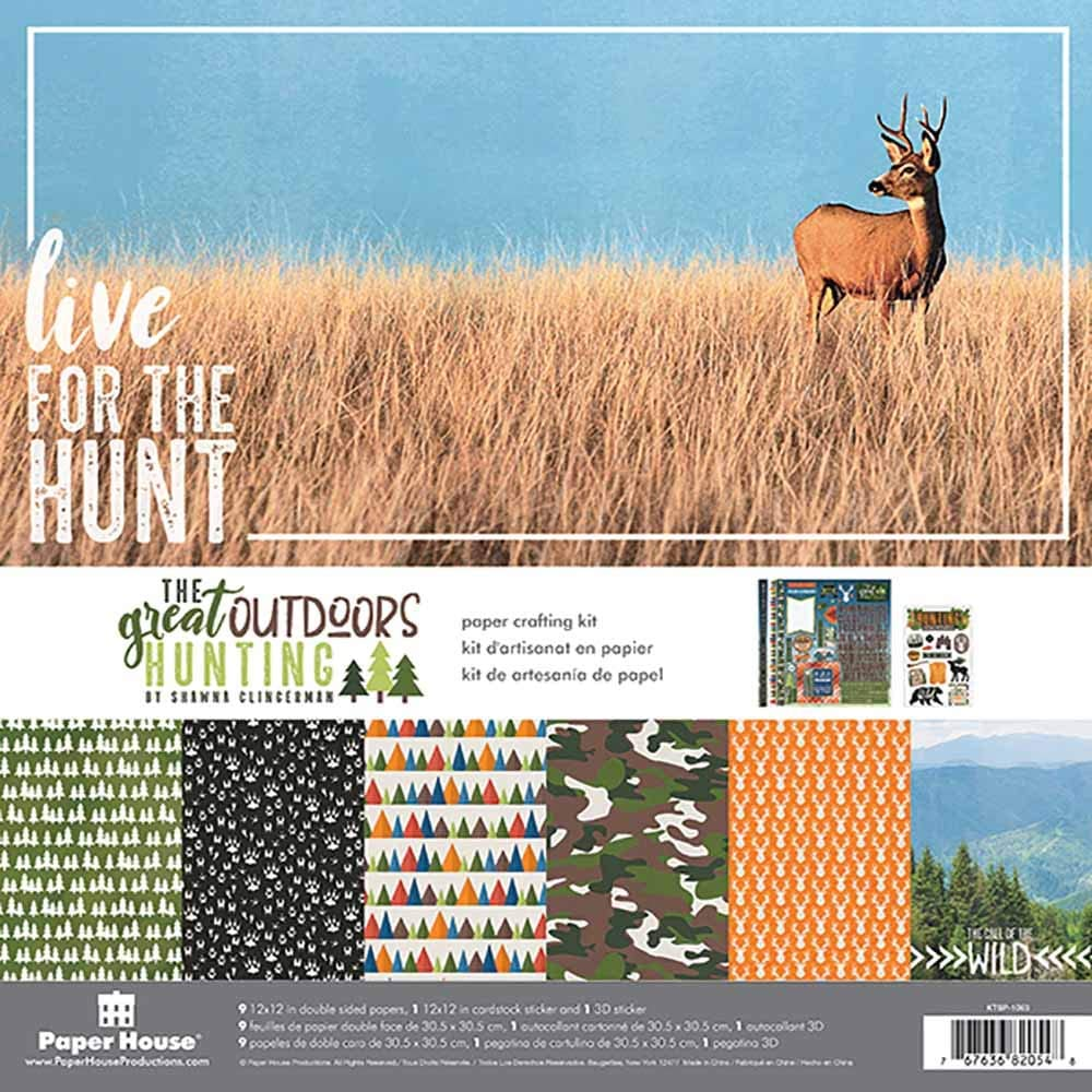 Paper House Productions Outdoors Hunting Paper Crafting Kit, 1-Pack, None