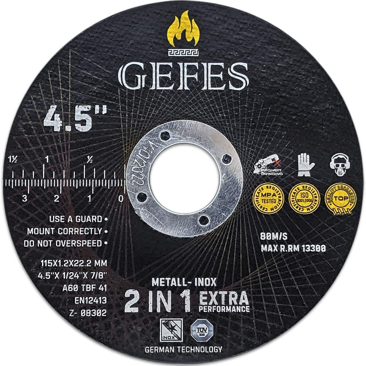 GEFES | 25 Pack 4-1/2
