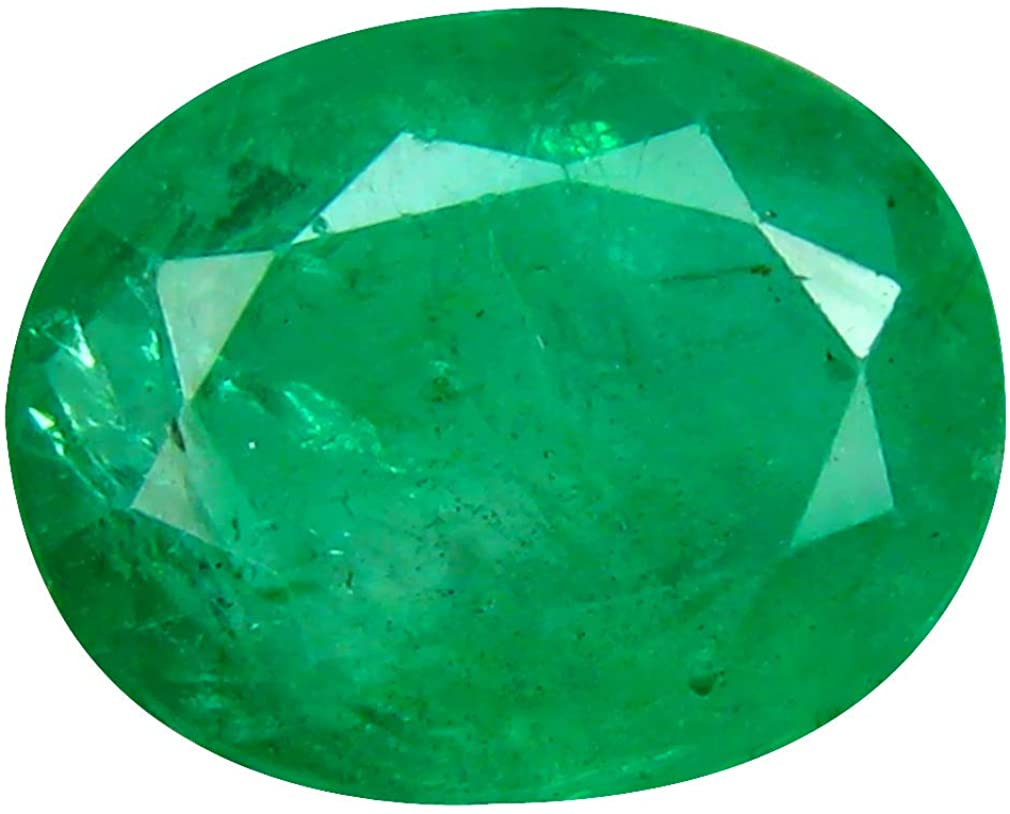 3.32 ct OVAL (10 x 8 mm) TRANSPARENT QUALITY 100% NATURAL UNHEATED COLOMBIAN EMERALD LOOSE GENUINE GEMSTONE