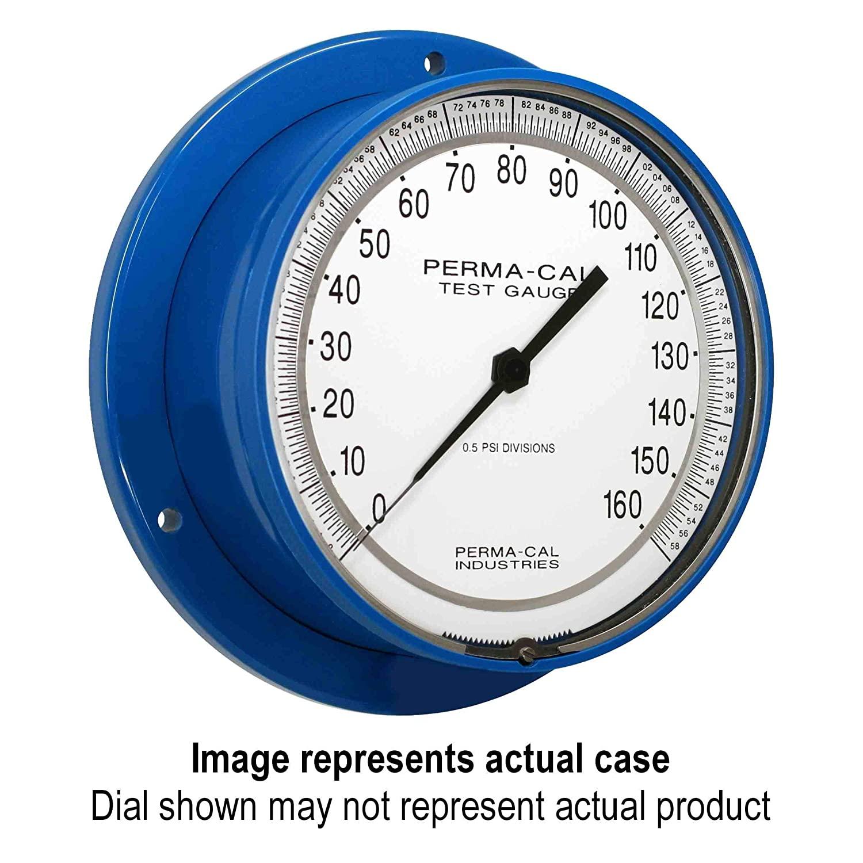 Pressure Gauge, Gearless, Test, 0-30 psi, 6