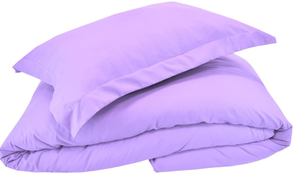 Mezzati Luxury Duvet Cover 3 Piece Set – Soft and Comfortable 1800 Prestige Collection – Brushed Microfiber Bedding (Lilac Lavender, King Size)