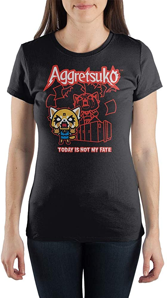 Today Is Not My Fate Aggretsuko Japanese Cartoon Tee