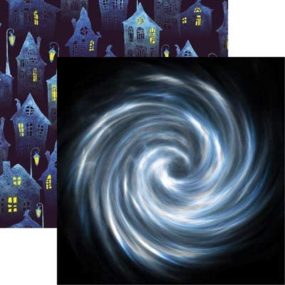 Vortex - Very Strange Things 12x12 Halloween Scrapbook Paper - 5 Sheets