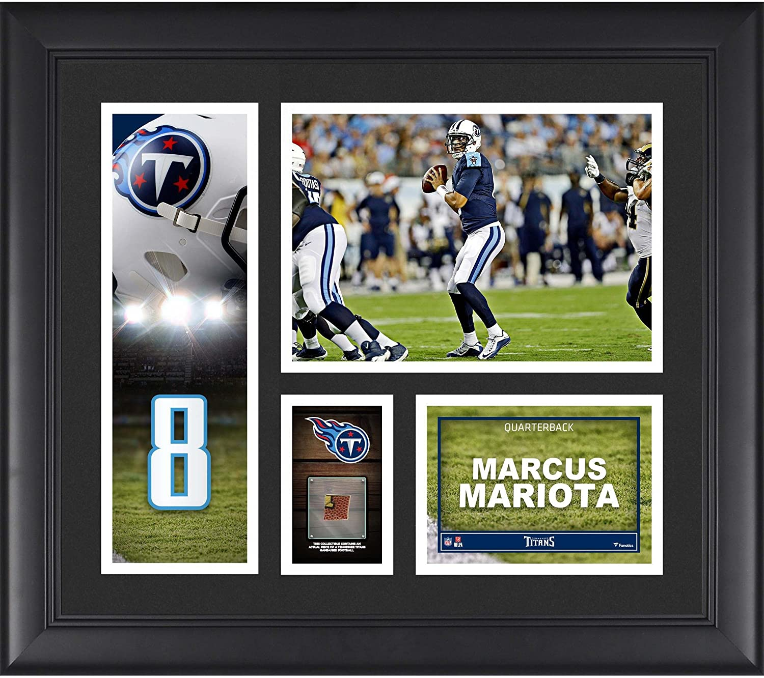 Marcus Mariota Tennessee Titans Framed 15 x 17 Player Collage with a Piece of Game-Used Football - NFL Player Plaques and Collages