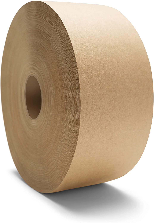 Gummed Packing Tape, Paper Tape Roll, 3 Inch x 200 Yards, Kraft Tan, 20 Pack