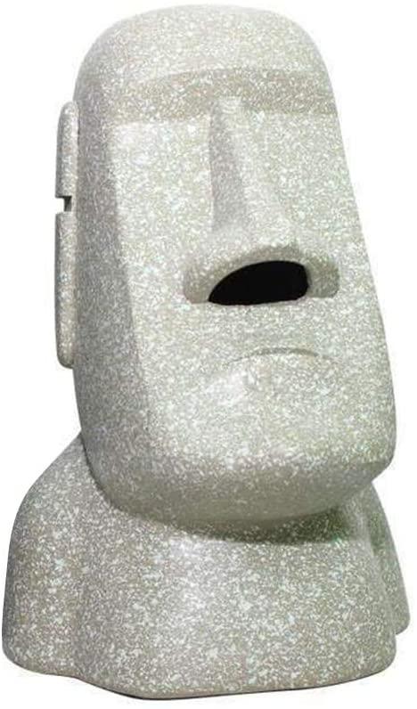 Forart Easter Island Moai Monolith Sculpture Statue Tissue Box Cover Stone Face Tissue Holder for Home Office, Desk, or Living Room