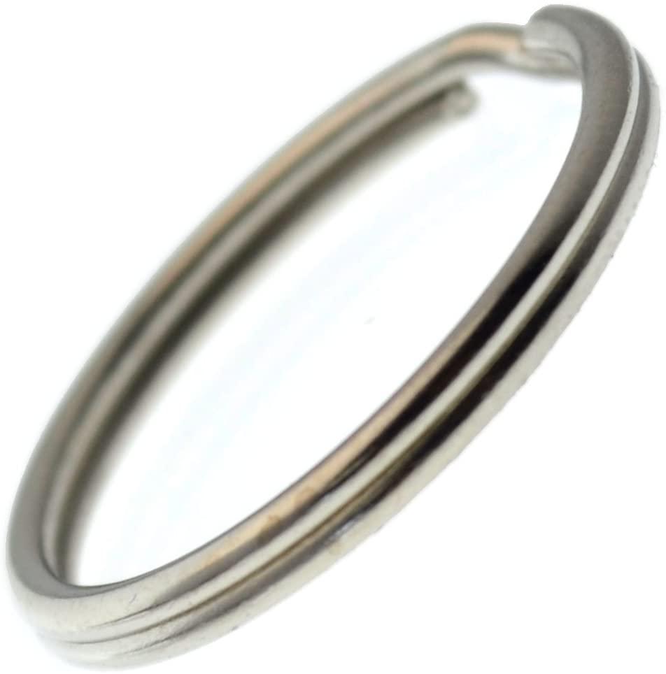 Bulk 500 Pack - Extra Large Key Rings - 1.25 Inch Heat Treated & Lead Free - Heavy Duty Sturdy Metal Split Ring Keychains by Specialist ID