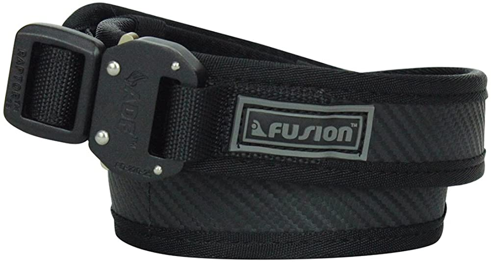 Fusion Tactical Military Police Trouser Belt Generation II Type E Carbon Black Medium 33-38