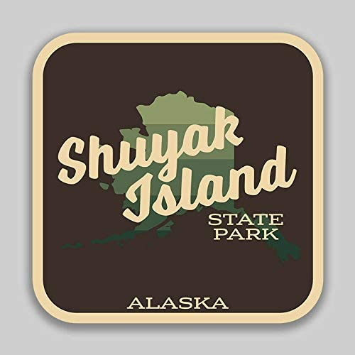 JB Print Magnet Shuyak Island State Marine Park Sticker Explore Wanderlust Camping Alaska Vinyl Decal Sticker Car Waterproof Car Decal Magnetic Bumper Sticker 5