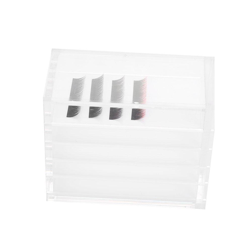 Acrylic 5 Layers Clear Eyelash Storage Box, Makeup Organizer Container, Eyelash Extension Storage Box Storage Box Eyelash Pad Eyelash Extension Eyelash Lashes Box Display