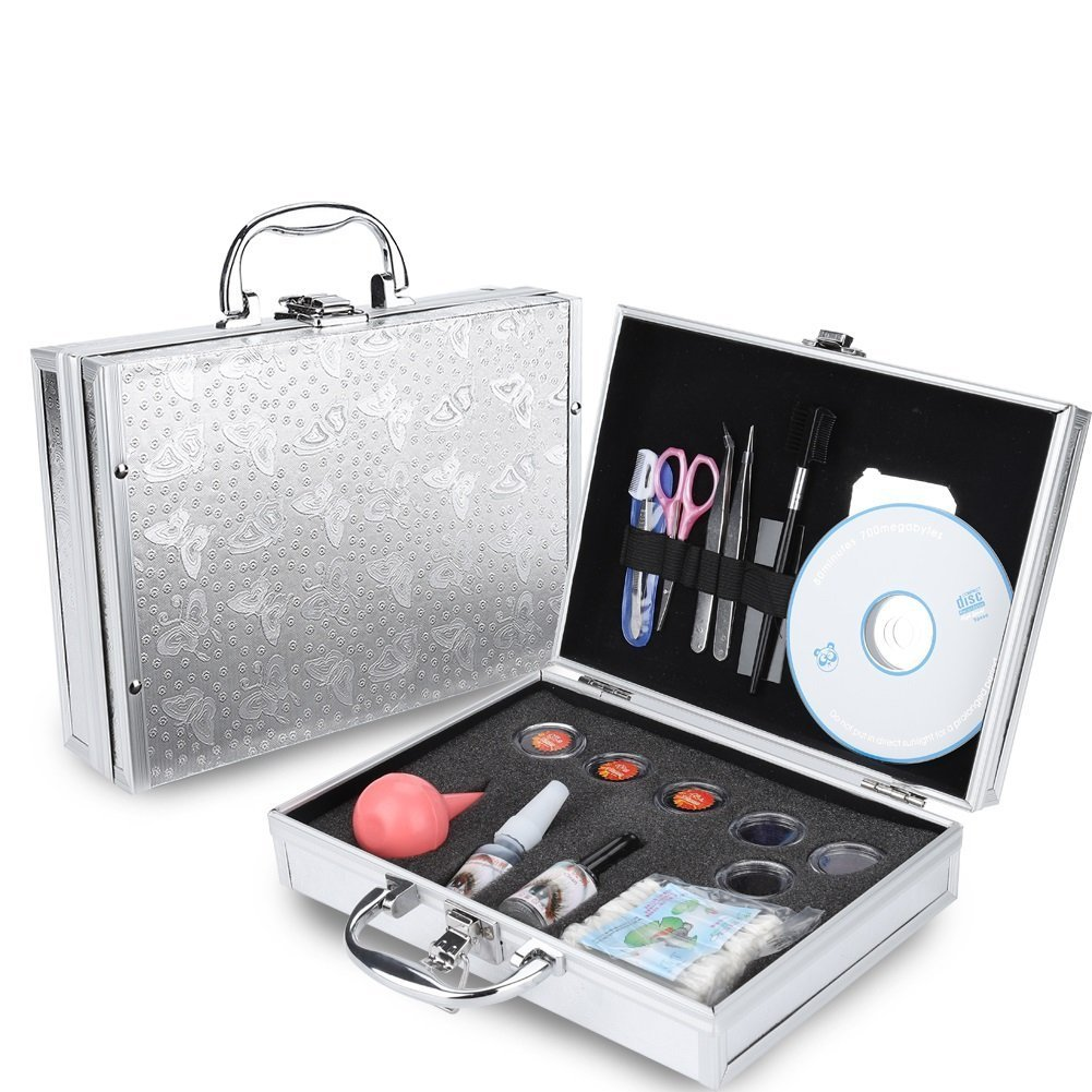 Starter Eye Makeup Lash Extension Trainning kit, False Eyelashes Extension Individual Practice Set