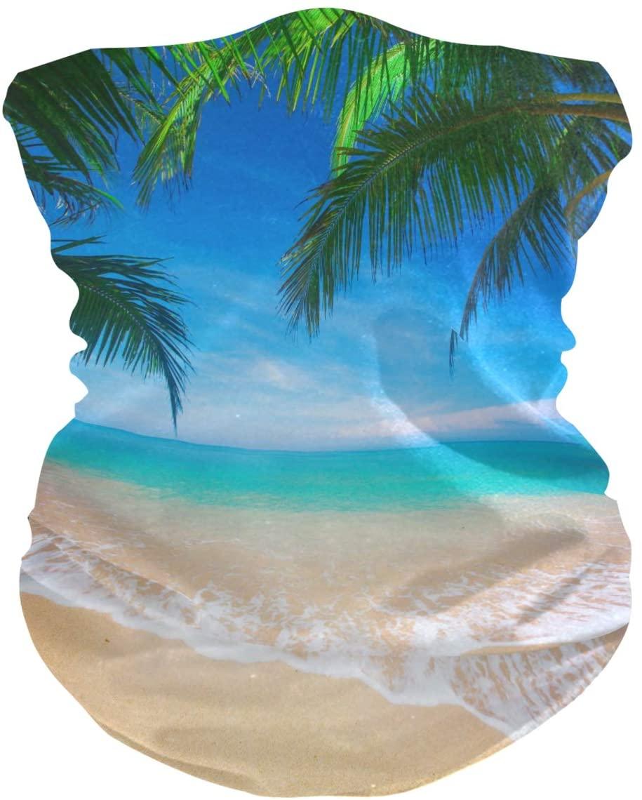 BETTKEN Soft Headscarf Tropical Palm Tree Beach Summer Breathable Bandana Face Dust Sun Protection Mask Neckerchief Gaiters Balaclava Headband for Girls Boys