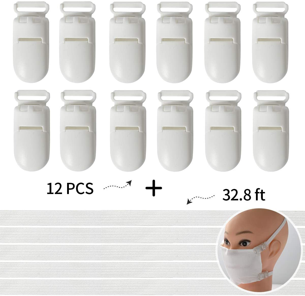 CORODER Mask DIY Universal Clip Elastic Band for Protect People Reuse Suitable Any Material