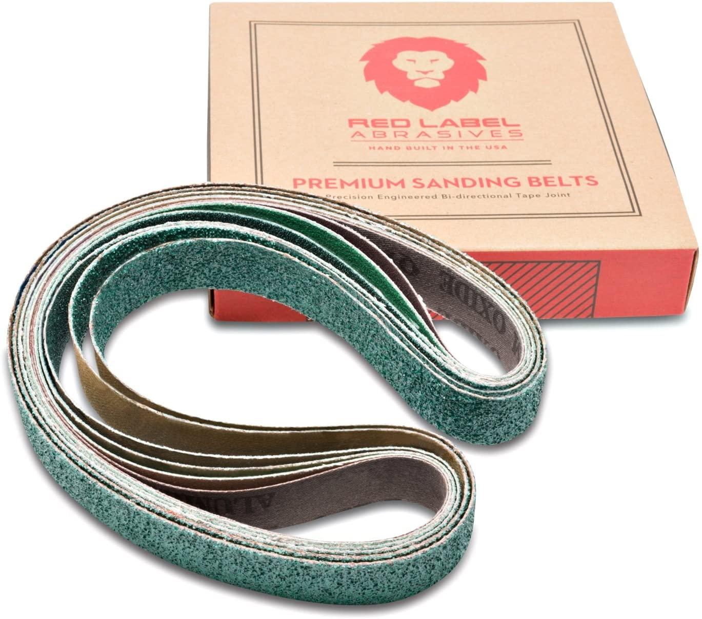1 x 30 Knife Makers Coarse Grit Sanding Belts, 6 Pack Assortment