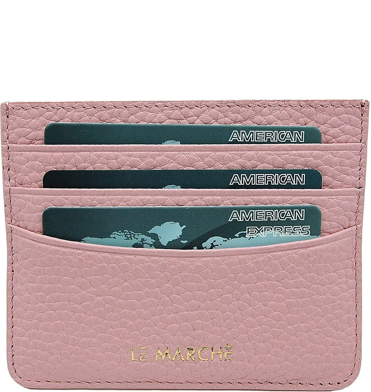 Handmade Leather Card Holder, Wallet Case (Nude Cream)