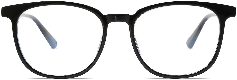 SOJOS Classic Square Blue Light Blocking TR90 Glasses Prescriptionable Eyewear Frame SJ5077