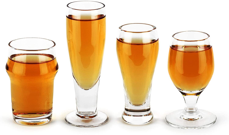 Barbuzzo Craft Beer Shot Glasses - Set of 4