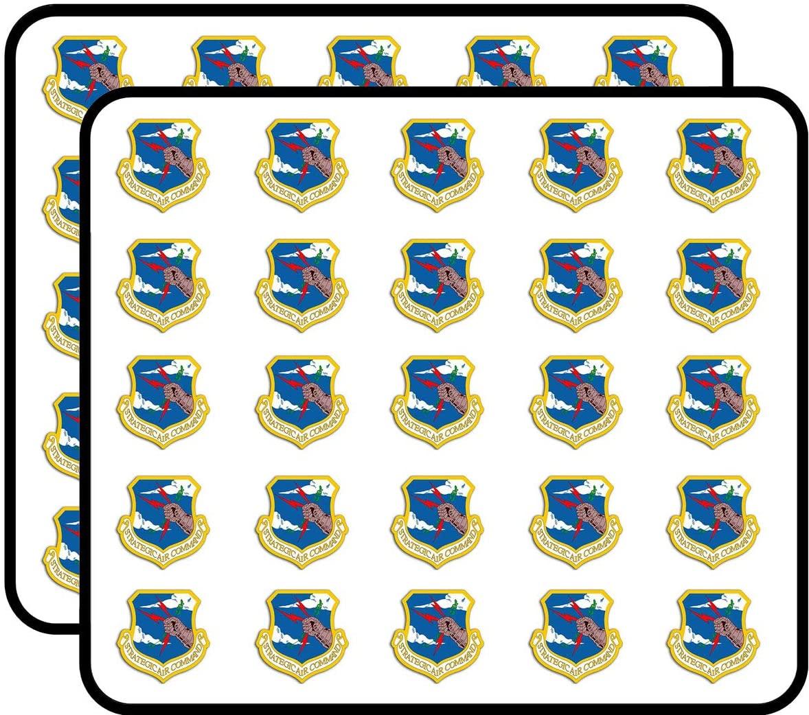 Shield Shaped USAF Strategic Air Command - air Force Veteran Sticker for Scrapbooking, Calendars, Arts, Kids DIY Crafts, Album, Bullet Journals 50 Pack