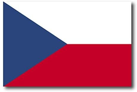 Czech Republic Flag Car Magnet Decal - 4 x 6 Heavy Duty for Car Truck SUV