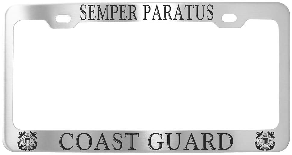 US Coast Guard Customized License Plate Frame Stainless Seel