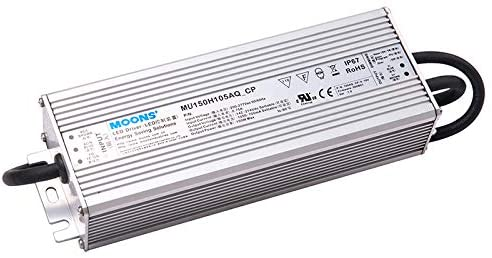 MOONS' IP67 150W Dimmable LED Driver Outdoor Power Supply 90~305VAC 86~214VDC 700mA(Default) Output Constant Current 0-10v dimming,Not Suitable for Constant Voltage (12V, 24V, 48V) LED Strip