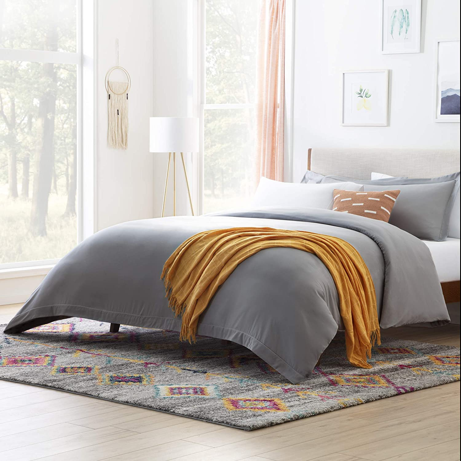 Linenspa Microfiber Duvet Cover - Three Piece Set Includes Duvet Cover and Two Shams - Soft Brushed Microfiber - Hypoallergenic, Full