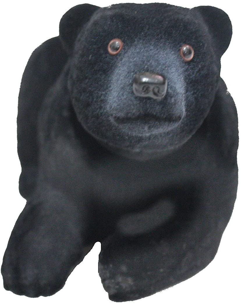 Batty Bargains Furry Bobblehead Black Bear with Car Dashboard Adhesive