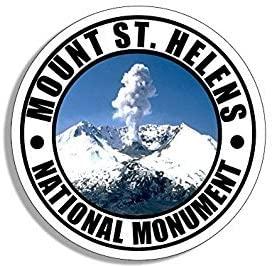 GHaynes Distributing Magnet Round Mount ST Helens National Monument Magnet(Travel rv Washington wa) Size: 4 x 4 inch