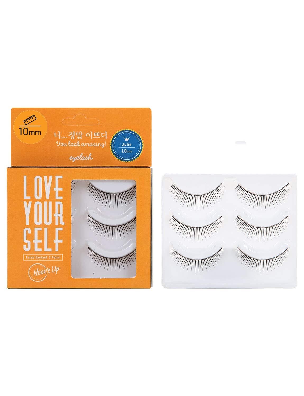 [NOON'S UP LOVE YOURSELF False Eyelash 3 Pairs] – Eyelash, Fake Eyelash, Eye Lashes, Eyebrow growth, Dramatic Lashes, Lashes with Glue (JULIE)