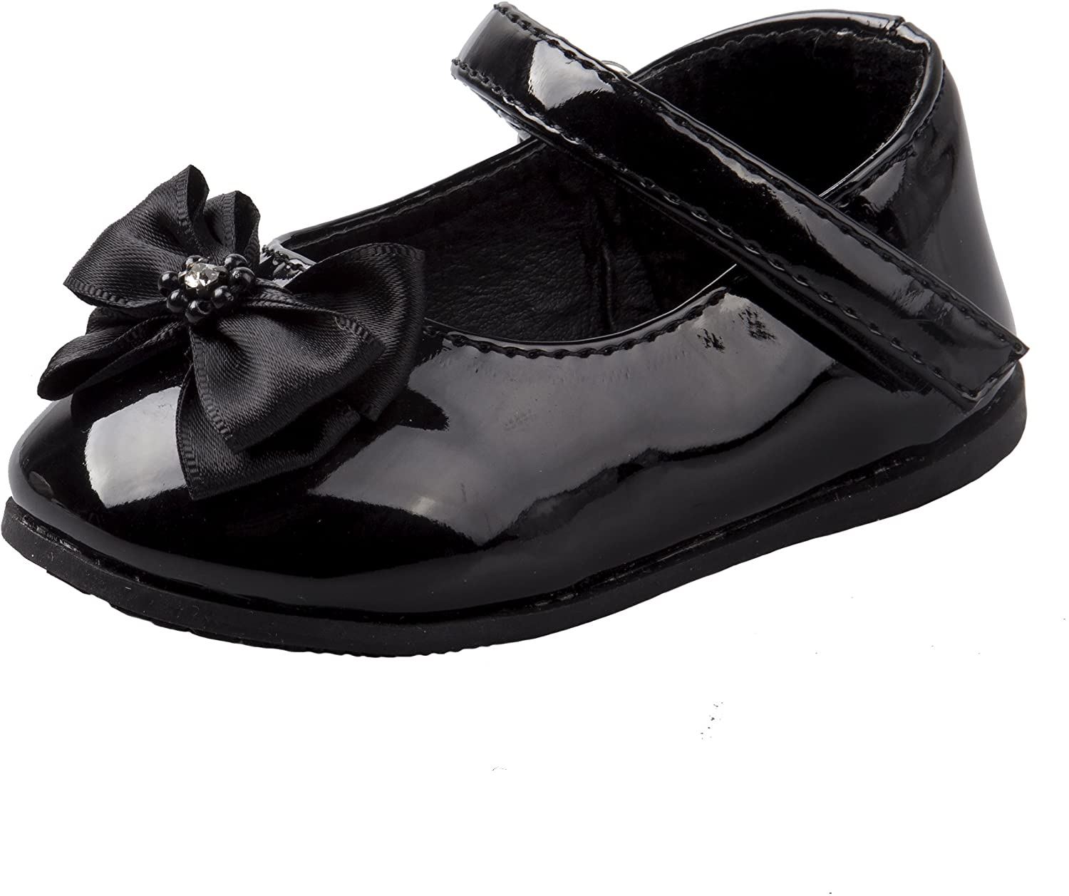 Josmo Baby Girls Patent Dressy Shoe Bow (Infant, Toddler)