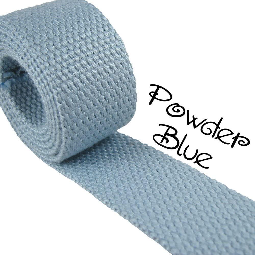Powder Blue - Heavy Canvas Webbing Roll 1.25 for Key Fobs, Purse Straps, Belting (10 Yard Roll)