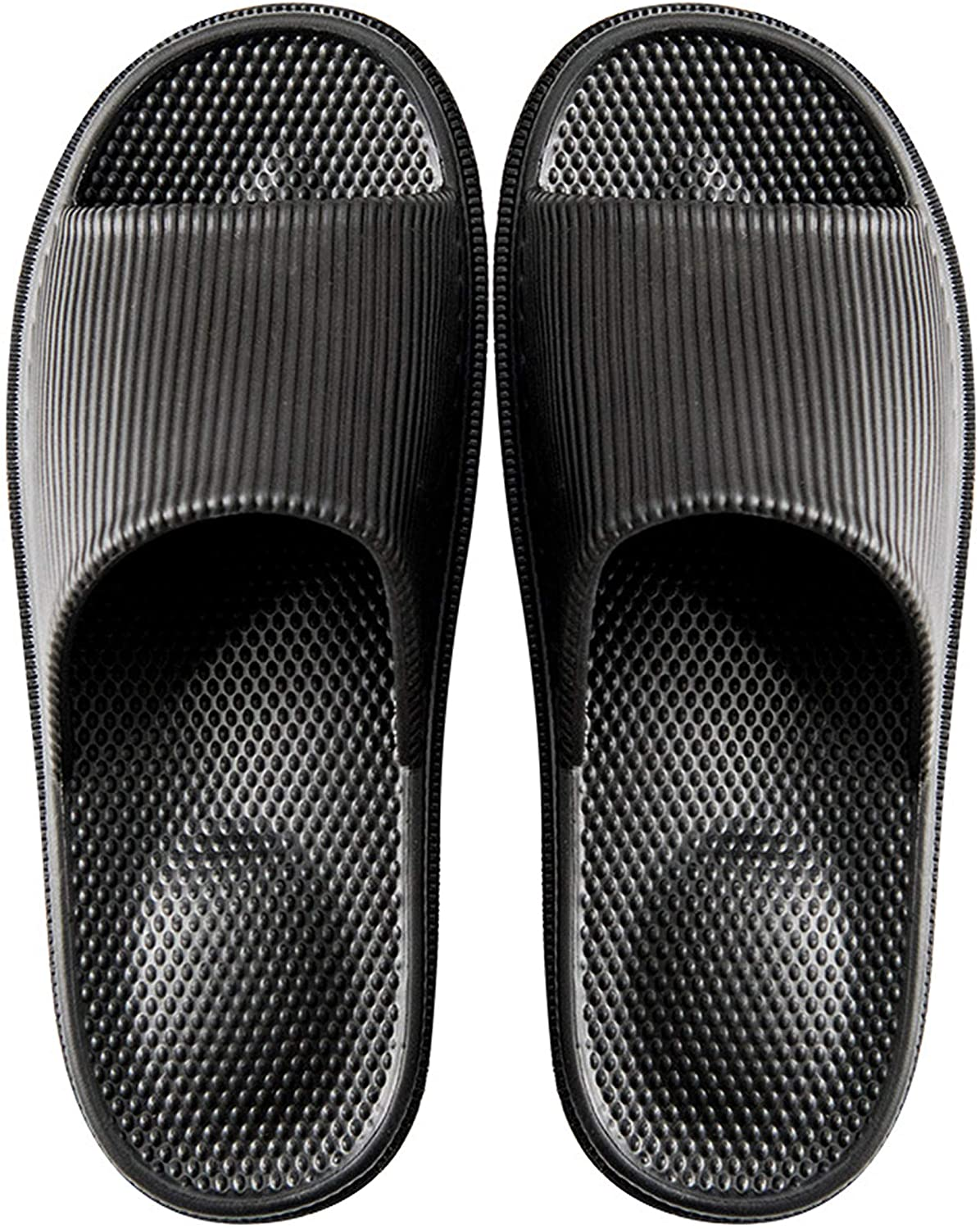 Crazy Lady Woman's Man's House Indoor & Outdoor Slippers Anti-Slip Massage Shower Spa Bath Pool Gym Slides Flip Flop Open Toe Comfortable Soft Sandals Casual Shoes Light Weight EVA Platform