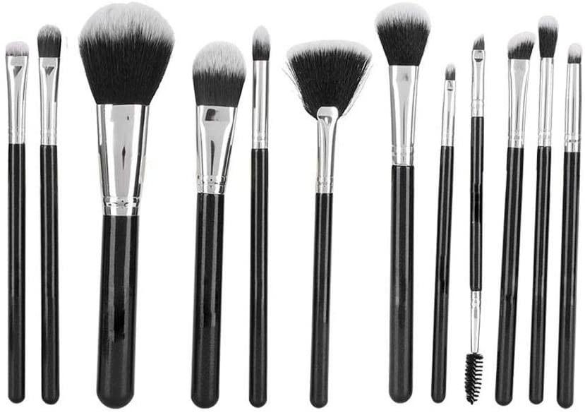 Oyunngs Make up Brushes, 12pcs Black Makeup Brush Set Powder Eyeshadow, for Foundation Blending Blush Concealer Eye Shadow