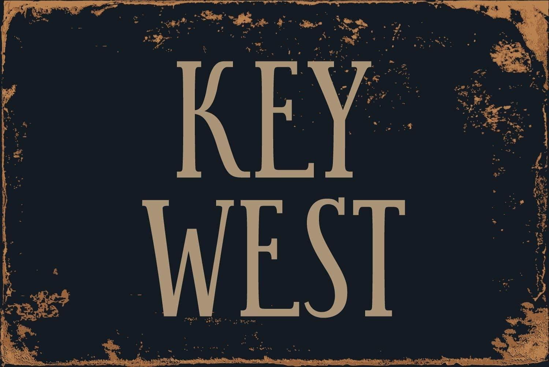 "Cortan360 Key West 8"" x 12"" Vintage Vinyl Retro Sticker Sign"