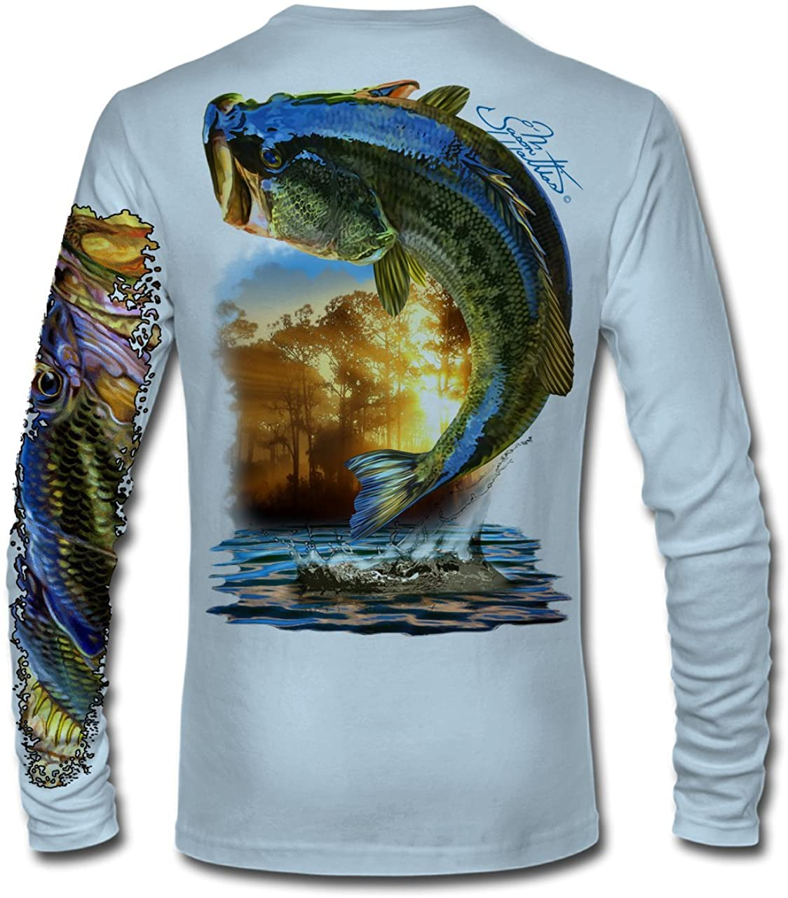 Jason Mathias Large Mouth Bass High Performance Fishing Shirt, Long Sleeve