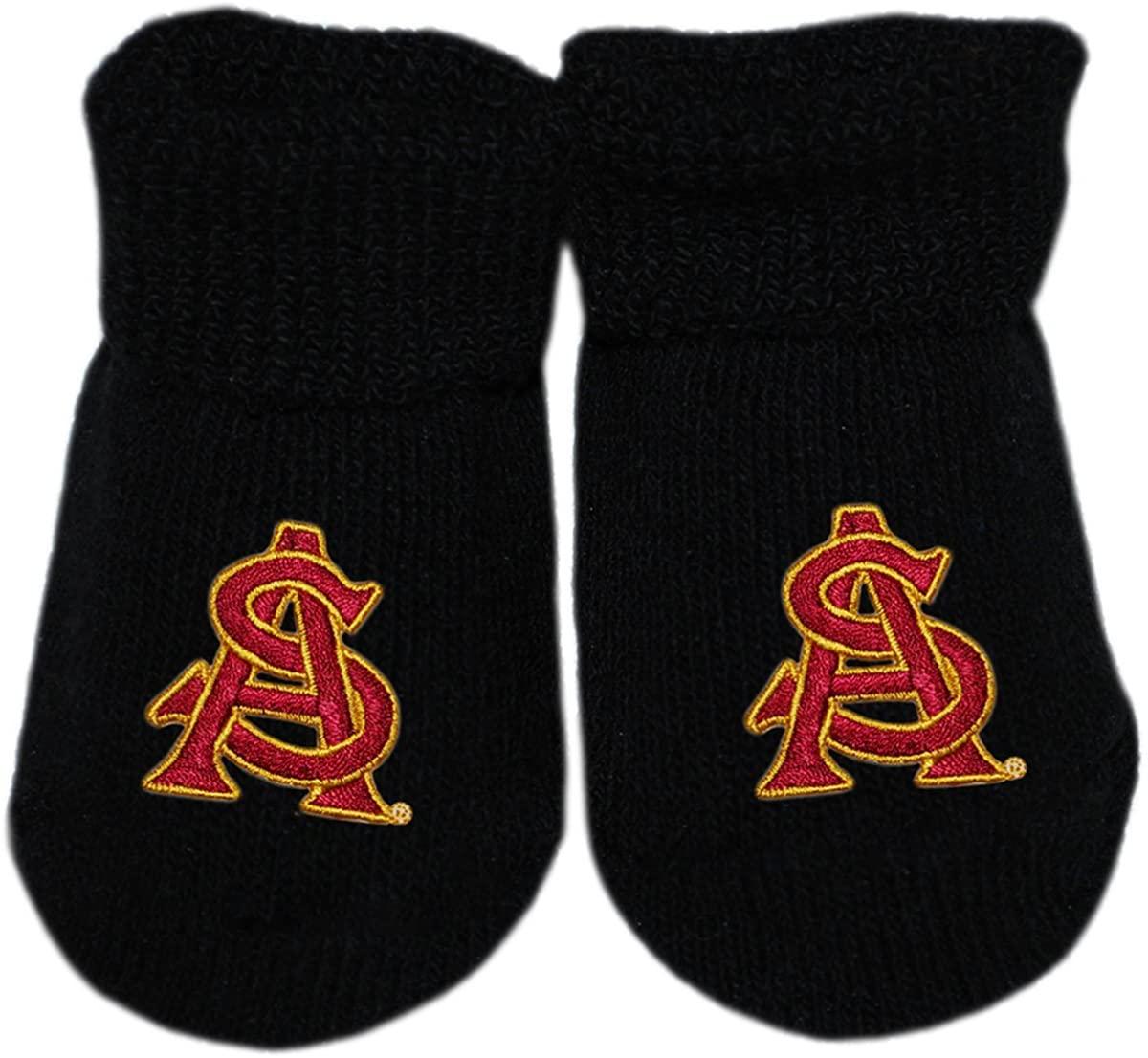 Arizona State University ASU Newborn Baby Bootie Sock